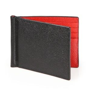 Bally black wallet with red interior